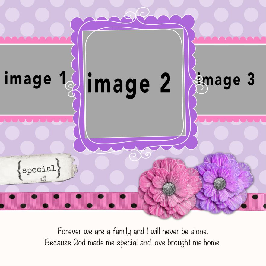 Photo Book Template: Love Brought Me Home: Pink And Pretty